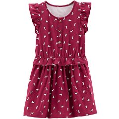 Toddler Girl Carter's Dog Ruffled Dress