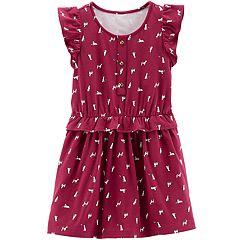 Toddler Girl Carter's Dog Ruffled Dress