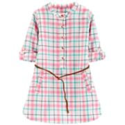 Toddler Girl Carter's Plaid Dress with Belt