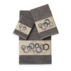 Linum Home Textiles Annabelle 3-piece Embellished Bath Towel Set