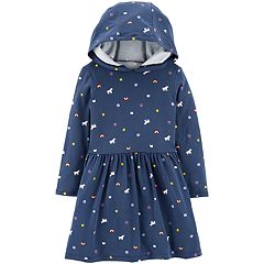 Toddler Girl Carter's Unicorn & Rainbows Hooded Dress