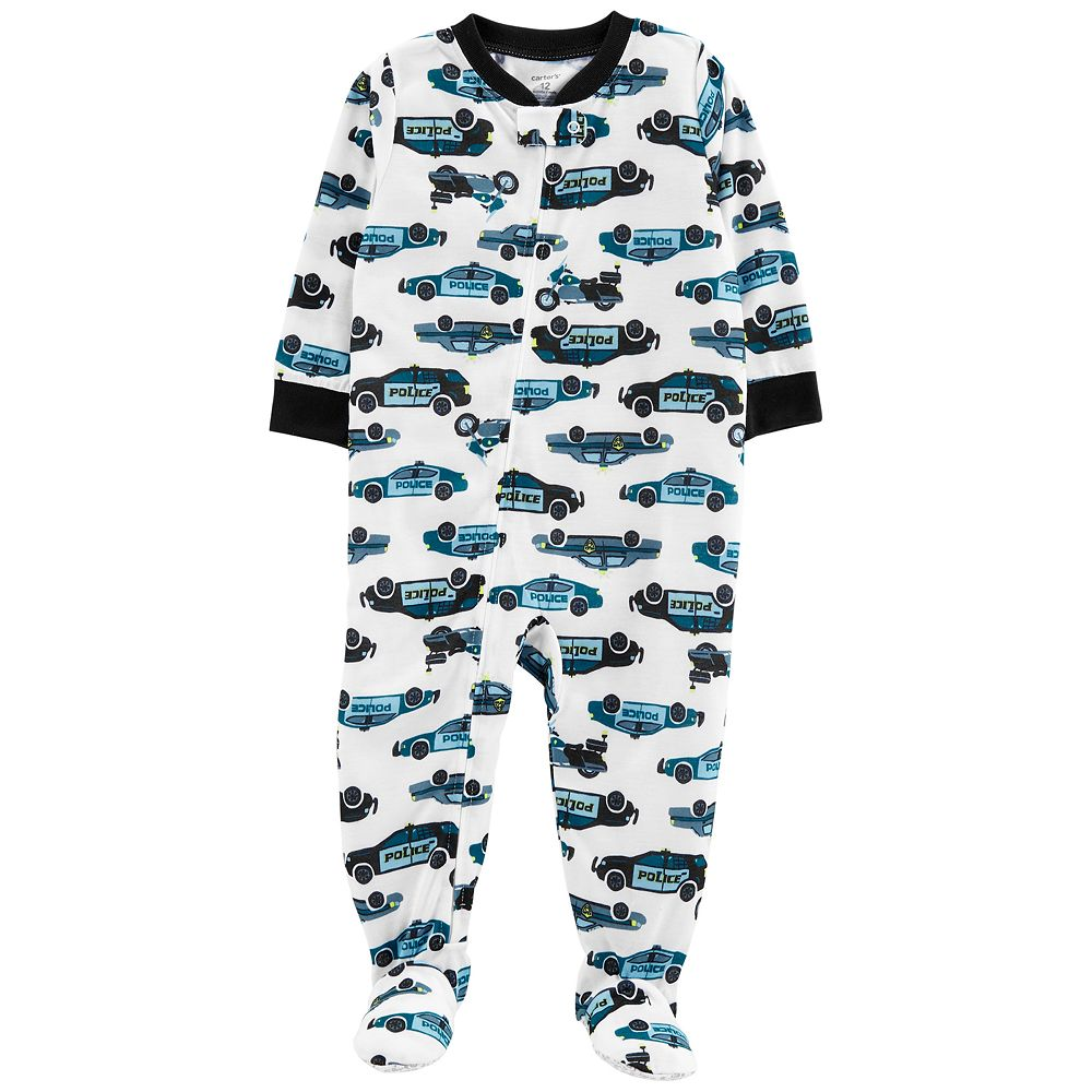 Baby Boy Carter's Police Car Footed Pajamas