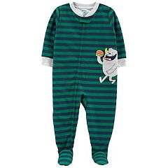 Toddler Boy Carter's Striped Monster Footed Pajamas