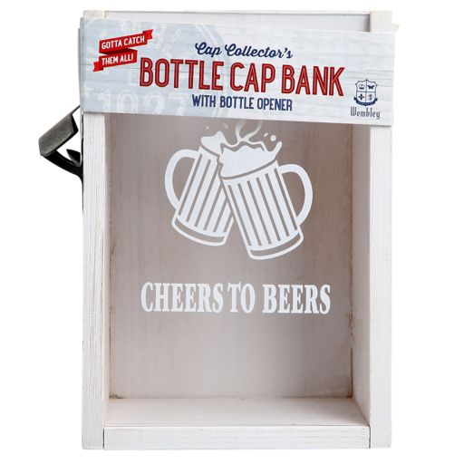 Wembley Cap Collector's Bottle Cap Bank & Bottle Opener