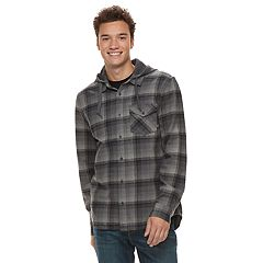 Men's Vans Shadowed Hooded Button-Down Shirt