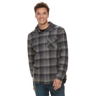 Men's Vans Shadowed Hooded Button-Down Shirt