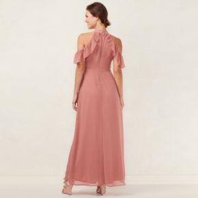 Women's LC Lauren Conrad Ruffle Cold-Shoulder Maxi Dress