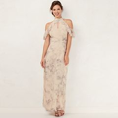 Women's LC Lauren Conrad Ruffle Cold-Shoulder Maxi Dress