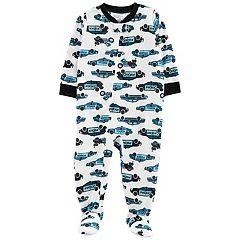 Toddler Boy Carter's Police Car Footed Pajamas