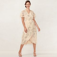 Women's LC Lauren Conrad Ruffle Faux-Wrap Midi Dress