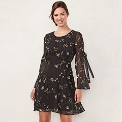 Women's LC Lauren Conrad Bell Sleeve A-Line Dress