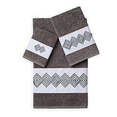 Linum Home Textiles Noah 3-piece Embellished Bath Towel Set