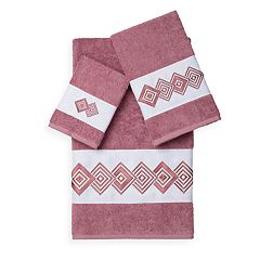 Linum Home Textiles Noah 3 pc Embellished Bath Towel Set