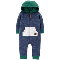 Baby Boy Carter's Colorblock French Terry Hooded Coverall