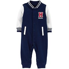 Baby Boy Carter's 'H Handsome' French Terry Varsity Coverall