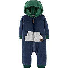 Baby Boy Carter's Fleece Hooded Coverall