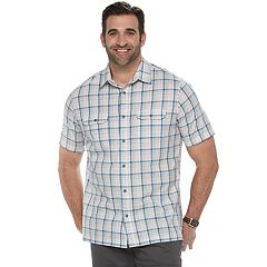 Big & Tall Croft & Barrow® Classic-Fit Plaid Quick-Dry Outdoor Button-Down Shirt