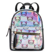 Cat Printed Hologram Backpack