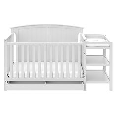 Stork Craft Steveston 4-in-1 Convertible Crib & Changer with Drawer