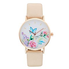 Women's Butterfly & Floral Watch