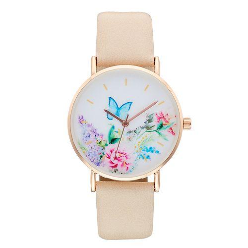 Women's Butterfly & Floral Watch