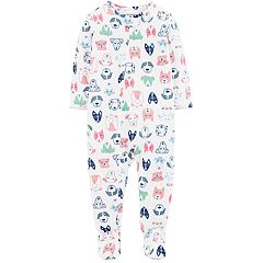 Baby Girl Carter's Dog Print Footed Pajamas
