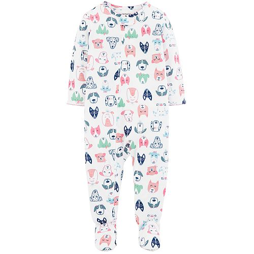 03bf52188 Baby Girl Carter's Dog Print Footed Pajamas