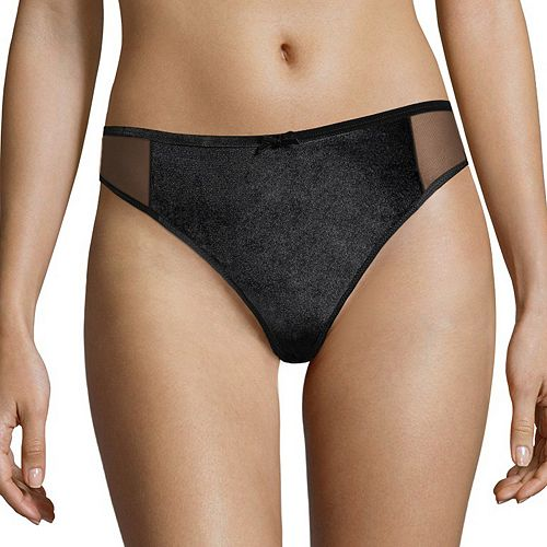 Women's Maidenform Extra Sexy Flocked Mesh Thong Panty MFB111
