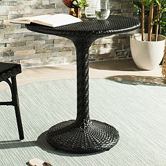Safavieh Black Indoor / Outdoor Wicker Bistro Table