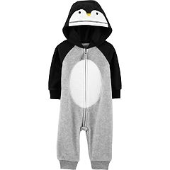 Baby Boy Carter's Penguin Hooded Fleece Coverall