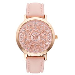 Women's Crystal Accent Mandala Watch