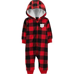Baby Boy Carter's Plaid Hooded Coverall