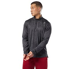 Men s Reebok Double-Knit Quarter-Zip Top 65cdb1f6b