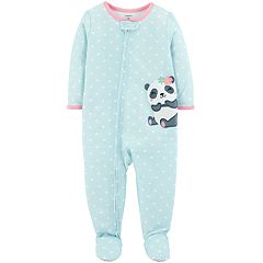 Toddler Girl Carter's Panda Bear Polka-Dot Footed Pajamas