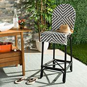 Safavieh Modern Indoor / Outdoor Wicker Bar Stool