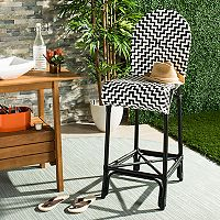 Safavieh Modern Indoor / Outdoor Wicker Bar Stool
