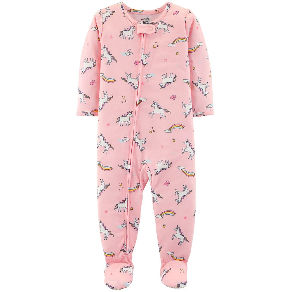 Toddler Girl Carter's Unicorn & Rainbows Footed Pajamas