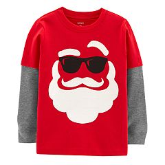 Toddler Boy Carter's Santa in Sunglasses Mock Layer Tee