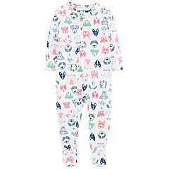 Toddler Girl Carter's Dog Print Footed Pajamas