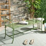 Safavieh Elegant Green Indoor / Outdoor Bench