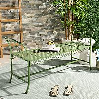 Safavieh Elegant Green Indoor / Outdoor Bench