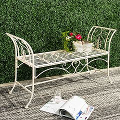 Safavieh Elegant White Indoor / Outdoor Bench