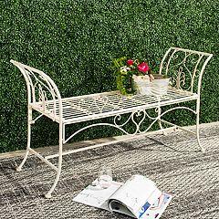 Safavieh Elegant White Indoor / Outdoor Bench