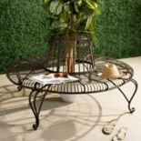 Safavieh Rustic Brown Indoor / Outdoor Circle Bench