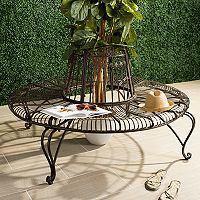 Safavieh Rustic Brown Indoor / Outdoor Circle Bench