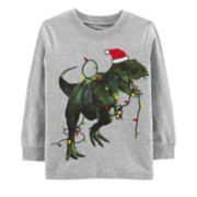 Toddler Boy Carter's Holiday T-Rex Dinosaur Graphic Tee