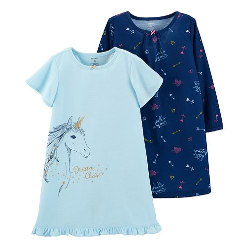 e20f07f2c Toddler Girl Carter s Unicorn Nightgown Set