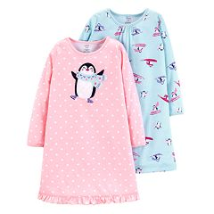 Toddler Girl Carter's 2-pack Penguin Nightgowns