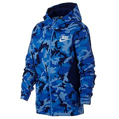 Boys 8-20 Nike Full-Zip Club Camo Hoodie