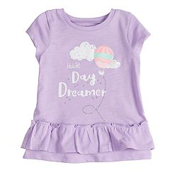 Baby Girl Jumping Beans® Heart Applique Ruffled Top